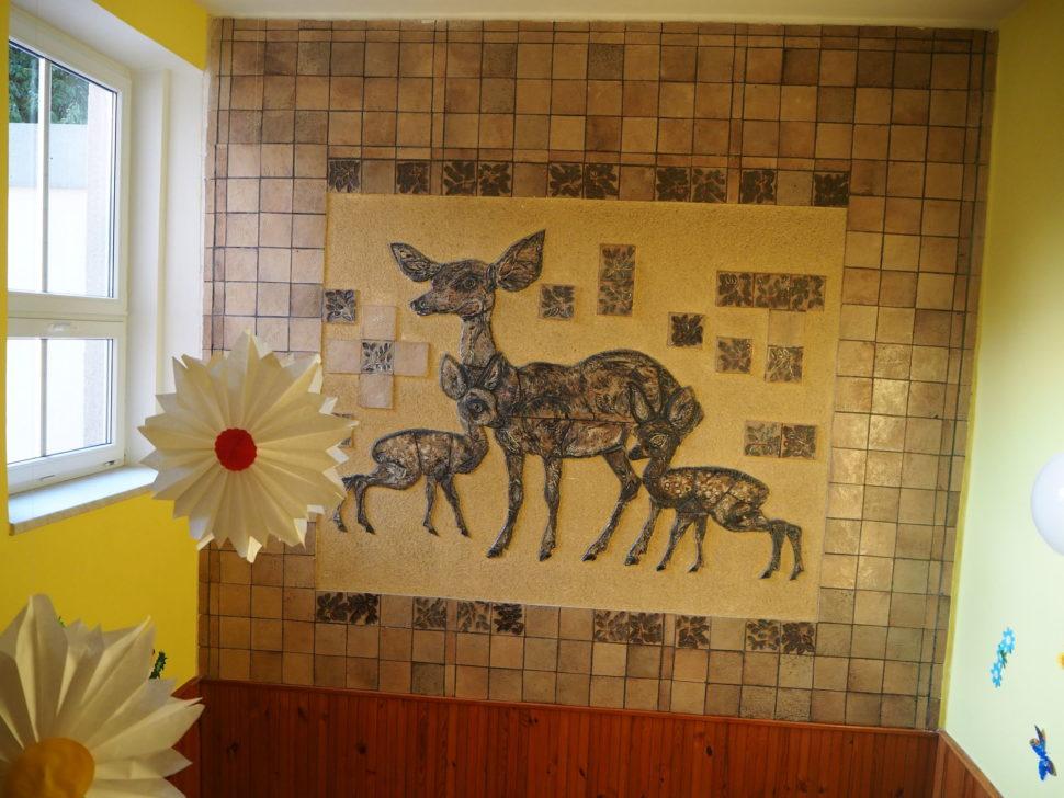 Mozaika Laň se dvěma koloušky